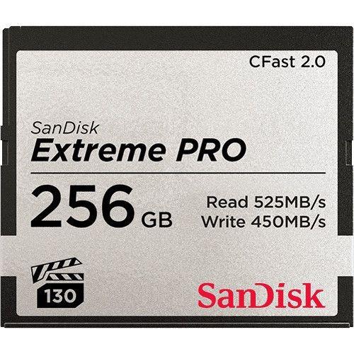 Cfast 256gb Sandisk Extreme Pro 525mb/s 2.0 C/ Nf Lançamento