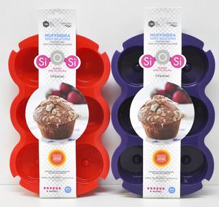 Molde 6 Muffins Silicona 7x4cm Silicosas