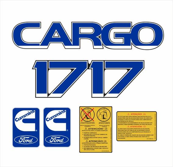 Adesivo Emblema Resinado Caminhão Ford Cargo 1717 Kit