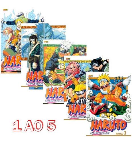 Naruto Gold 1 Ao 5! Mangá Panini! Novo E Lacrado! Raro!