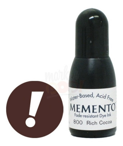 Memento Dye Ink Refill  Rich Cocoa.5oz