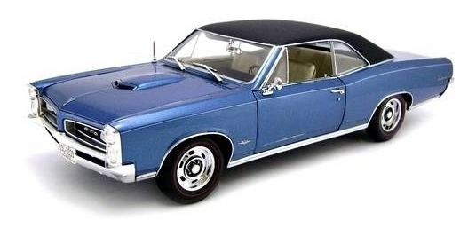 1966 Pontiac Gto Hard Top Azul - Escala 1:18 - Highway61