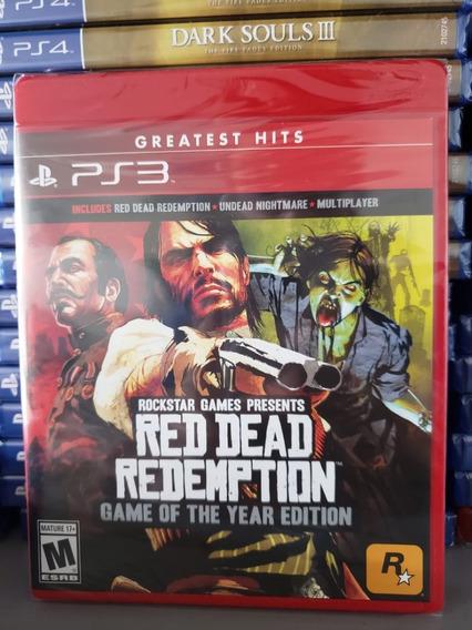 Red Dead Redemption Game Of Year Ps3 Mídia Física Lacrado