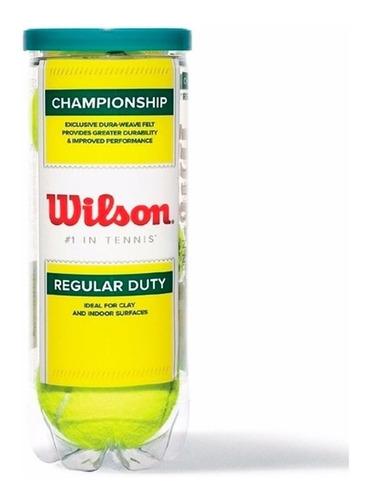 Imagen 1 de 4 de Tubo X3 Pelotas Wilson Regular Duty Tenis Profesional El Rey