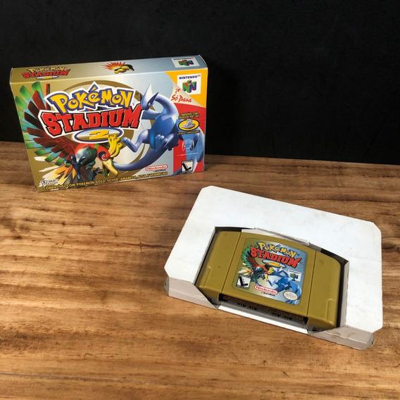 Pokemon Stadium 2 100% Original Na Caixa P/ Nintendo 64!!