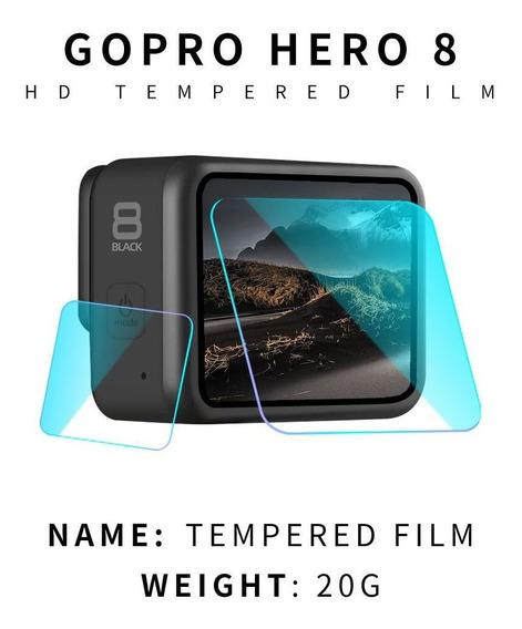 Película De Vidro Lente/tela De Lcd/visor Gopro Hero8 Black
