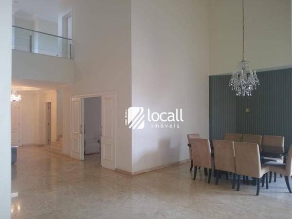 Casa Com 4 Dormitórios Para Alugar, 450 M² Por R$ 5.500/mês - Residencial Jardins - São José Do Rio Preto/sp - Ca2179