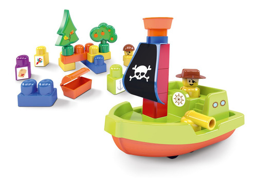 Ilha Do Pirata Blocos De Montar Para Bebês Mk366 Dismat