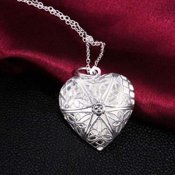 Colar Coração Apaixonados Abre Namorados Romântico