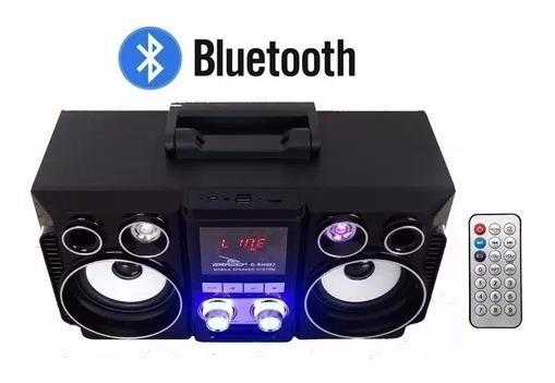Caixa De Som Amplificada Bluetooth Usb P2 Grasep - D-bh002