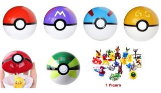 Pokebola Varios Colores + Figura Pokemon Sorpresa Gratis
