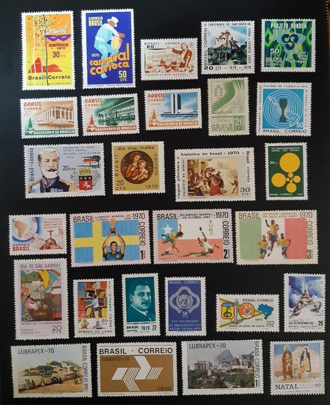 Selos Brasil 5 Anos Completos 1970, 1971, 1972, 1973, 1974