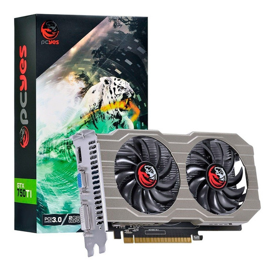 Placa De Video Pcyes Geforce 2gb Gtx 750ti Gddr5 128bits C/