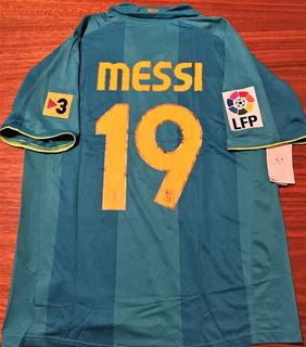 Camisa Do Barcelona 50 Anos Camp Nou Messi #19 Rara