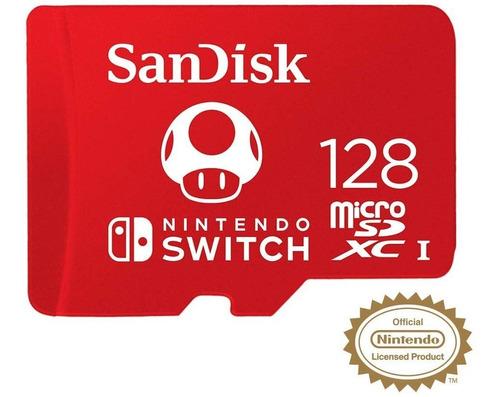 Imagen 1 de 7 de Memoria Sandisk Micro Sd 128gb Oficial Nintendo Switch Fc A