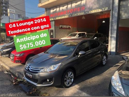 Citroën C4 Lounge 2014 2.0 Tendance, $675.000 Y Ctas Con Dni