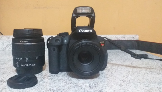 Kit Estudio Fotografico Canon T5i + Lentes + Luz + Fundo