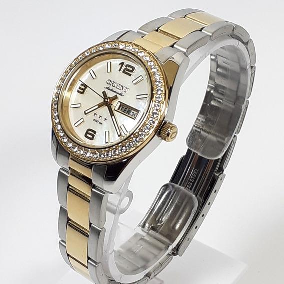 Relógio Feminino Orient Automático 559tt008 Com Cristais