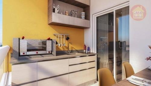 Apartamento À Venda, 57 M² Por R$ 317.100,00 - Boqueirão - Praia Grande/sp - Ap5348