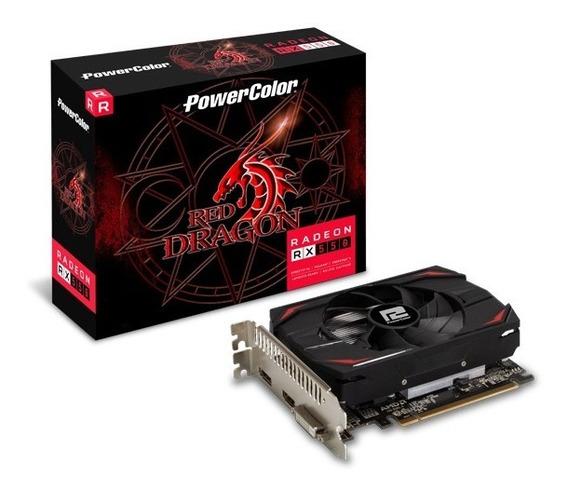 Placa De Vídeo Rx 550 4gb Ddr5 128 Bits Red Dragon Radeon.