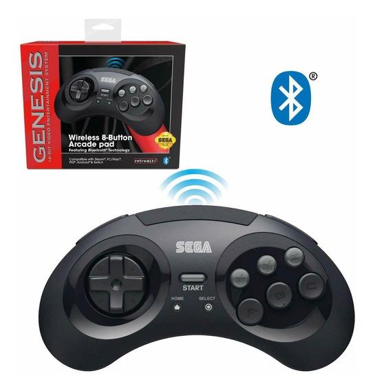 Controle Sem Fio Oficial Mega Drive Gênesis Retro-bit