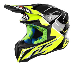 Casco De Cross Airoh Twist Cairoli Mantova Brillo Marelli