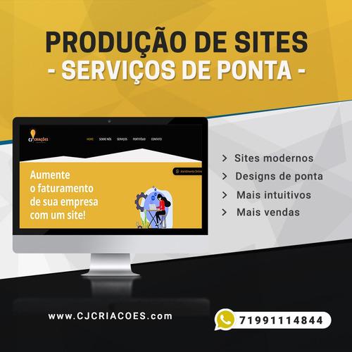 Imagem 1 de 6 de Criação De Sites/lojas Virtuais/landing Pages/logotipos