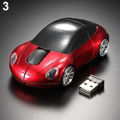 Acessórios De Computador Vermelho Corrida Carro Em Forma 2.4