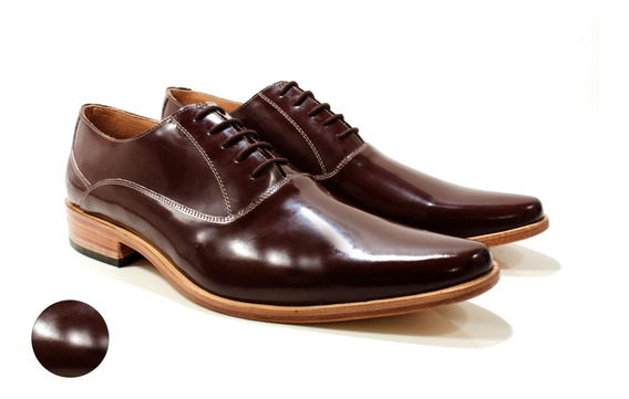 Zapato Hombre Cuero Charol Diseño Romeo By Ghilardi