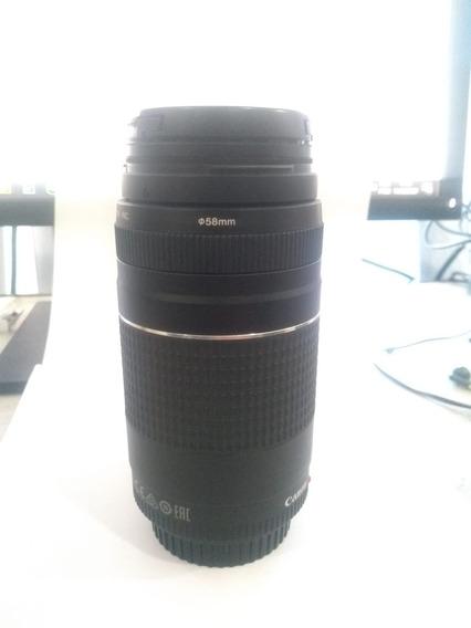 Lente 75-300 Canon Com Filtro Cpl