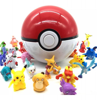 Pokebola Original 7cm + 10 Pokemons Aleatorios