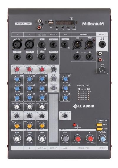 Mixer Ll Audio Millenium Mx402r (4 Canais-usb-sd-bluetooth)