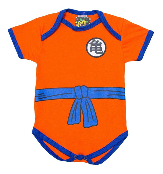 Body Goku Dragon Ball Z Infantil - Roupas Para Bebês