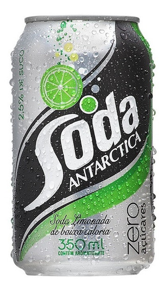 Refrigerante Soda Limonada Antarctica Zero 350 Ml