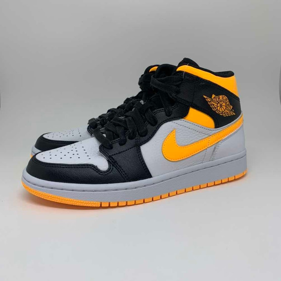 Tênis Air Jordan 1 Mid Laser Orange Black 37/38