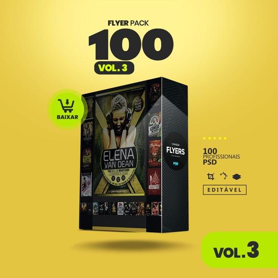 Vol. 3 Flyers Para Festas E Eventos 100 Artes Editáveis