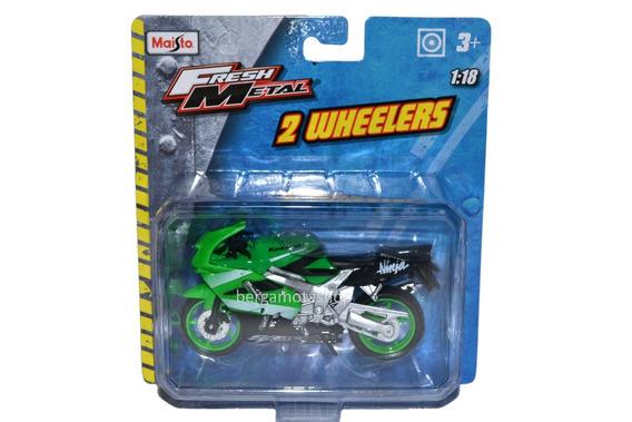 Miniatura Moto Kawasaki Ninja Zx9r 1:18 Maisto 2 Wheelers