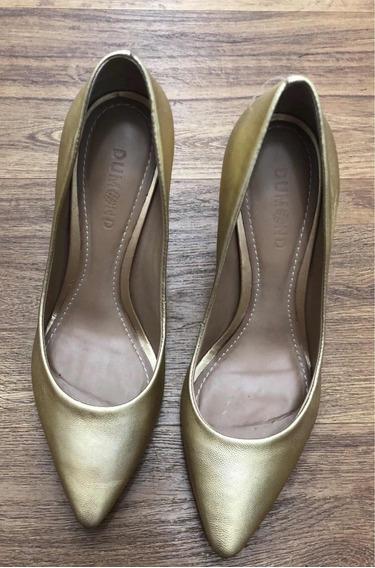 Sapato Dourado Dumont Tam 37