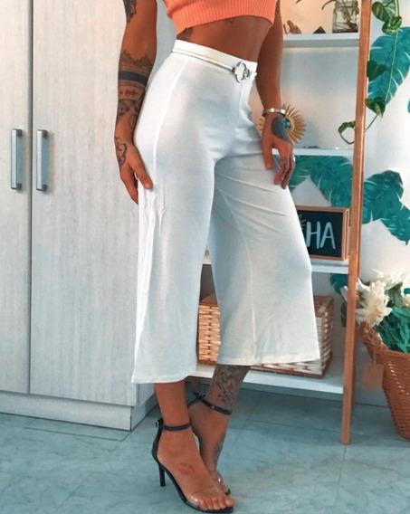 Pantalon Palazo Capri Dama Mujer Tiro Alto Art 7063