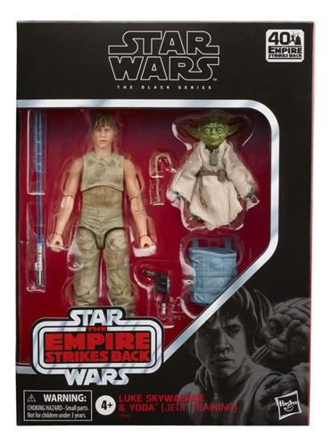 Muñeco Star Wars Black Series-luke Skywalker Y Yoda