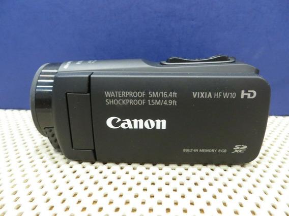 Filmadora Live A Prova D`água Canon Vixia Hf W10 Hdmi Limpa