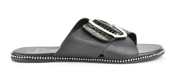 Sandalia De Piso Para Mujer Lob Footwear 151-9589 Negro Nuevo Oi19