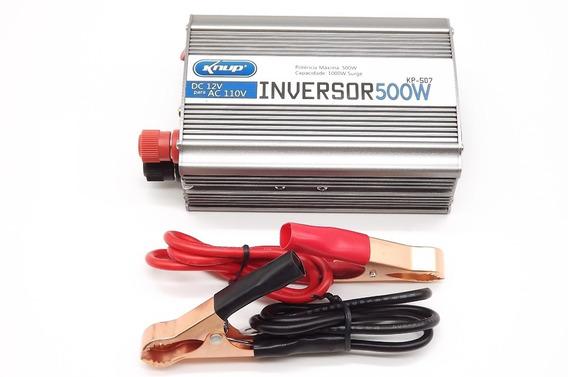 Inversor Conversor Veicular 500w Dc 12v Ac 110v + Nf
