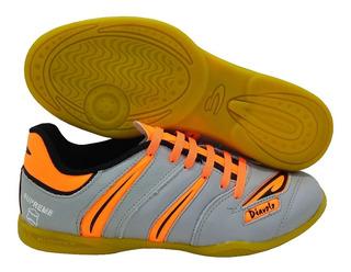 Tênis Futsal Couro Legítimo Diavolo Supreme 33 Ao 45