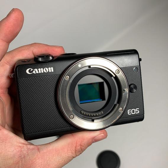 Camera Canon M100 + Lente 15-45mm + Cartão De Memória 32gb