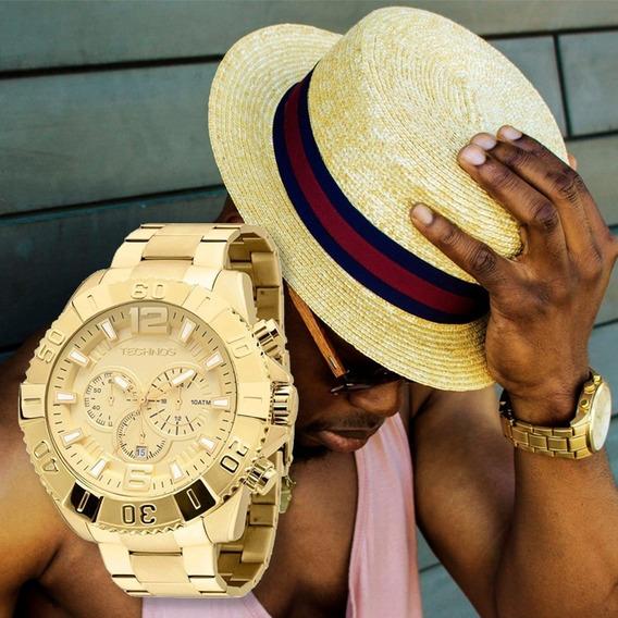 Relógio Masculino Technos Dourado Os20ib/4x