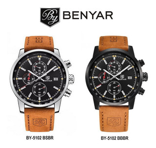 Benyar 5102_reloj Estilo Elegante_calidad_moderno_crono 1/10