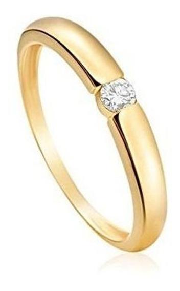 Monte Carlo- Anel Em Ouro Amarelo 18k Com Diamante Destinee