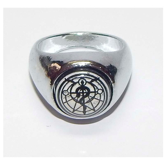 Full Metal Alchemist Fma Anillo Giratorio Edward Cruz Flamel