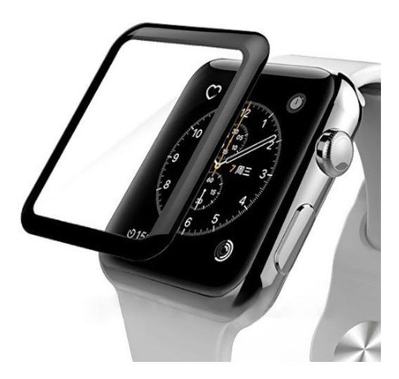 Pelicula Proteção Apple Watch 6d 38/40/42/44mm Serie 1 2 3 4 5 Vidro Temperado 3d Borda Curvada